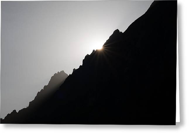 Mountain Sunset Greeting Card by Marco Missiaja