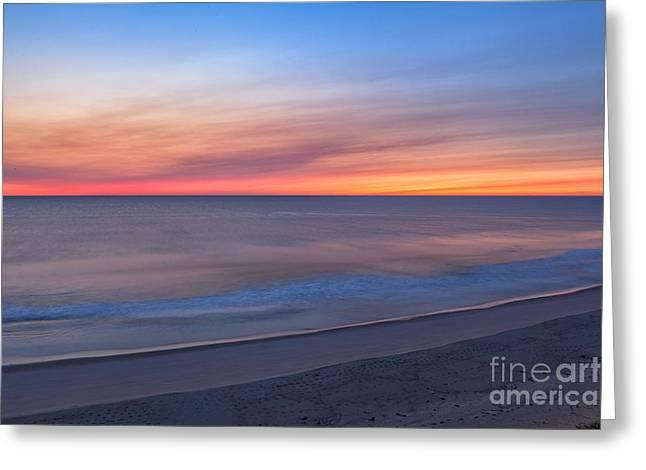 Marconi Beach Sunrise Greeting Card by Richard Sandford