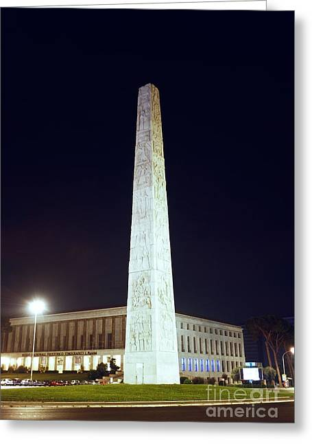 Marconi Obelisk Greeting Card by Fabrizio Ruggeri