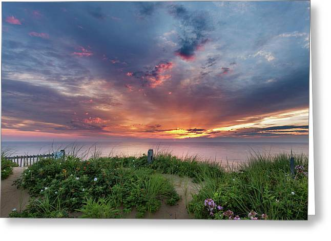 Marconi Station Sunrise Square Greeting Card by Bill Wakeley