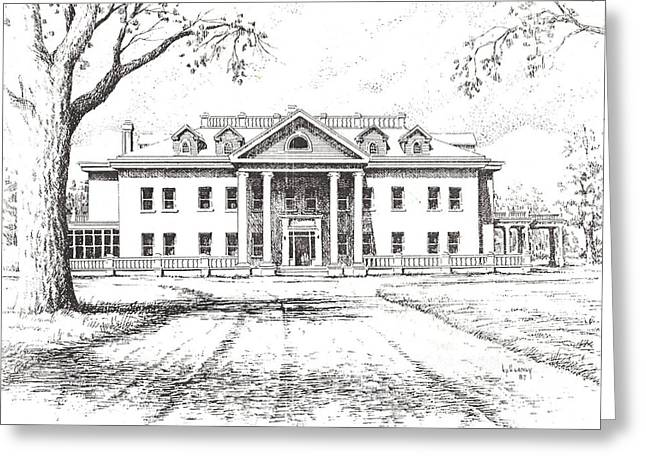 Marcus Daly Mansion Hamilton Montana Greeting Card by Kevin Heaney