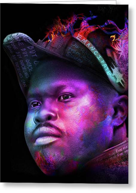 Marcus Garvey Portrait Greeting Card