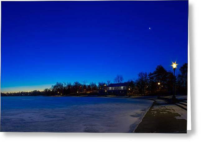 Greeting Card featuring the photograph Marcy Casino Winter Twilight by Chris Bordeleau