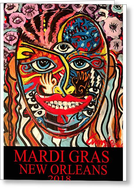 Mardi Gras 2018 Greeting Card