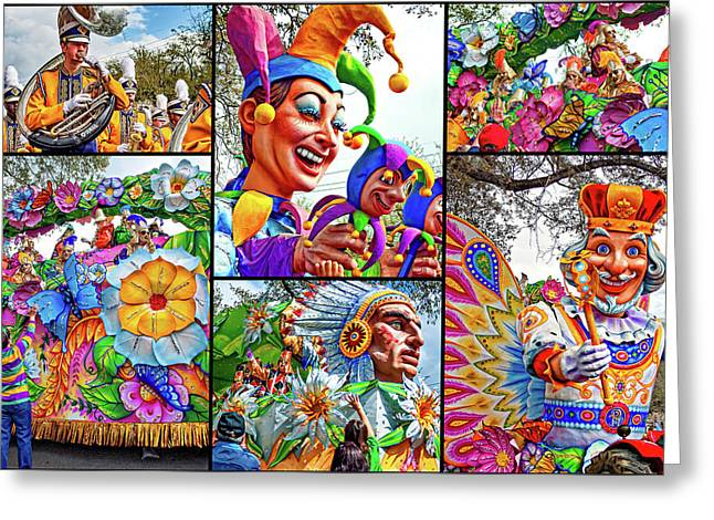 Mardi Gras Collage - Let The Good Times Roll 2 Greeting Card