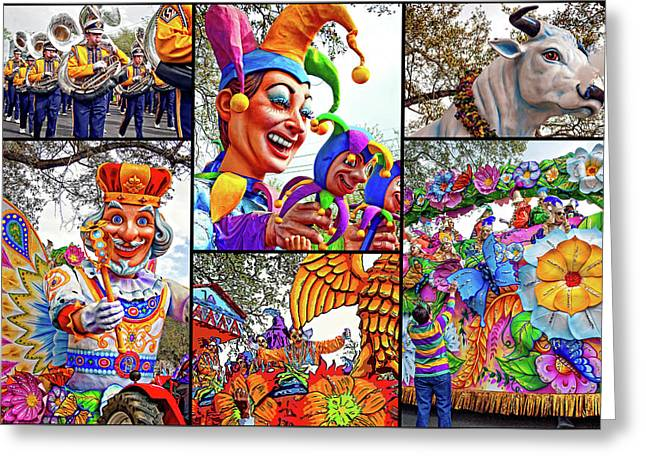 Mardi Gras Collage - Let The Good Times Roll Greeting Card