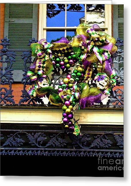 Mardi Gras Decor 1 Greeting Card