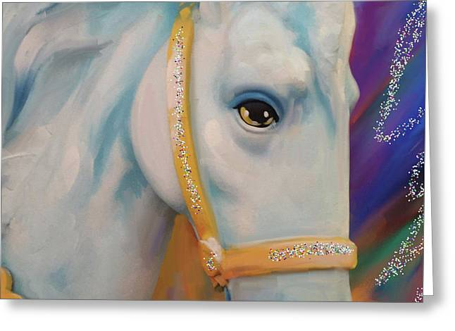 Mardi Gras Horse Greeting Card