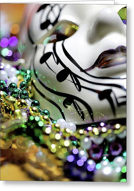 Mardi Gras I Greeting Card by Trish Mistric