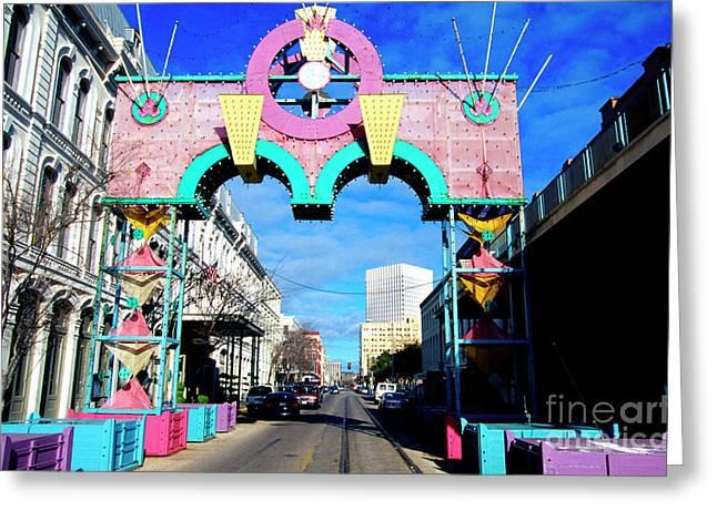 Mardi Gras In Galveston Greeting Card