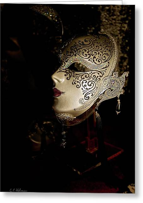 Christopher Holmes Greeting Cards - Mardi Gras Mask Greeting Card by Christopher Holmes