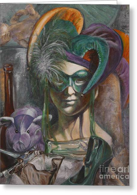 Mardi Gras Greeting Card by Pam Raney