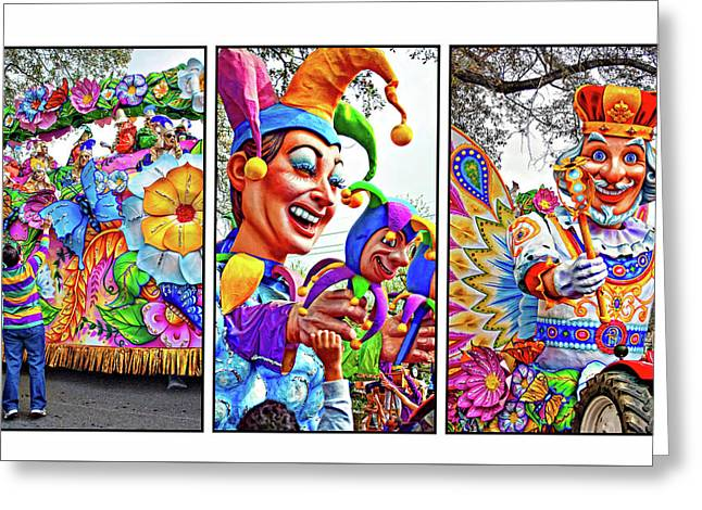 Mardi Gras Triptych - Let The Good Times Roll Greeting Card