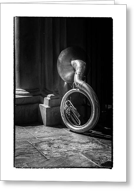 Mardi Gras Tuba At Jackson Square Greeting Card