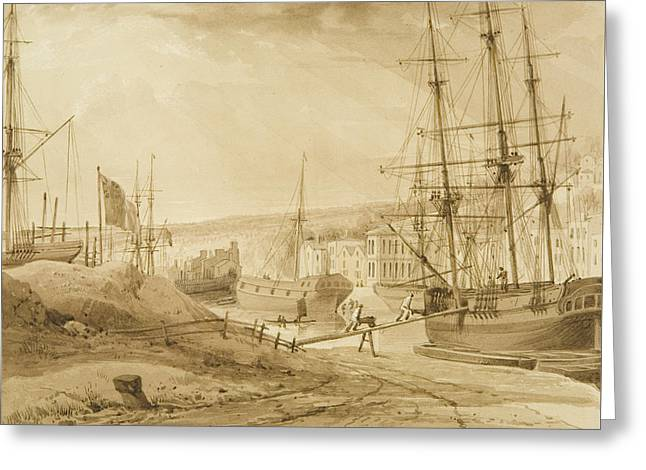 Mardyke Seen From Near Hilhouse's Dock Greeting Card