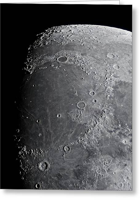 Mare Imbrium Greeting Cards - Mare Imbrium   Sea of Rains Greeting Card by Briar Richard