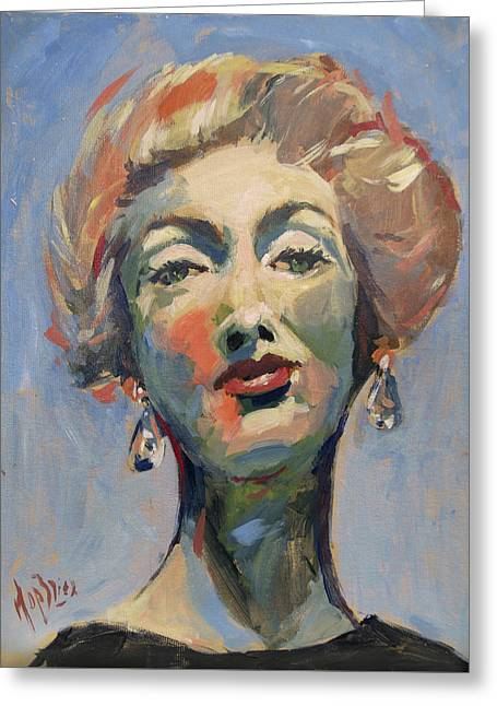 Marella Agnelli Greeting Card