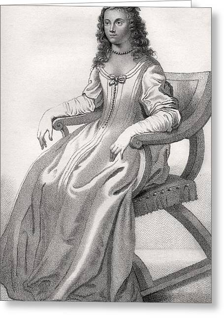 Margaret Cavendish Nee Lucas Duchess Of Greeting Card by Vintage Design Pics