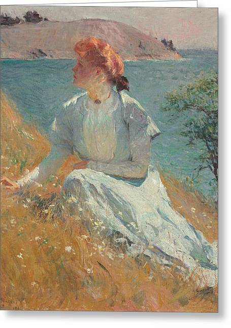 Margaret Gretchen Strong  Greeting Card by Frank Weston Benson