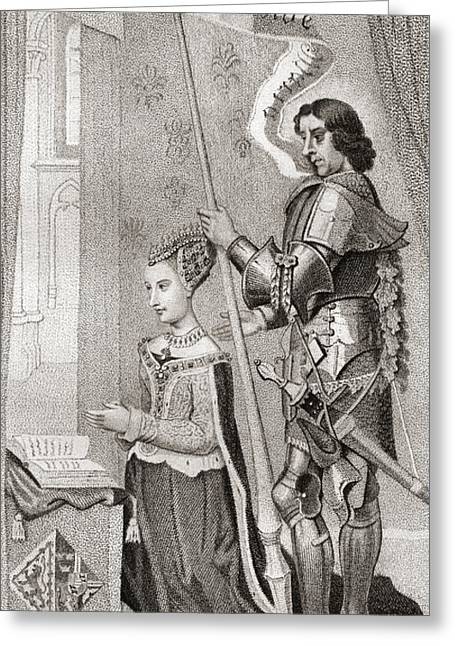 Margaret Of Denmark With St. Canute Greeting Card
