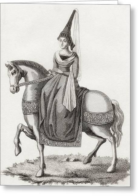 Margaret Of Scotland, 1424 Greeting Card by Vintage Design Pics