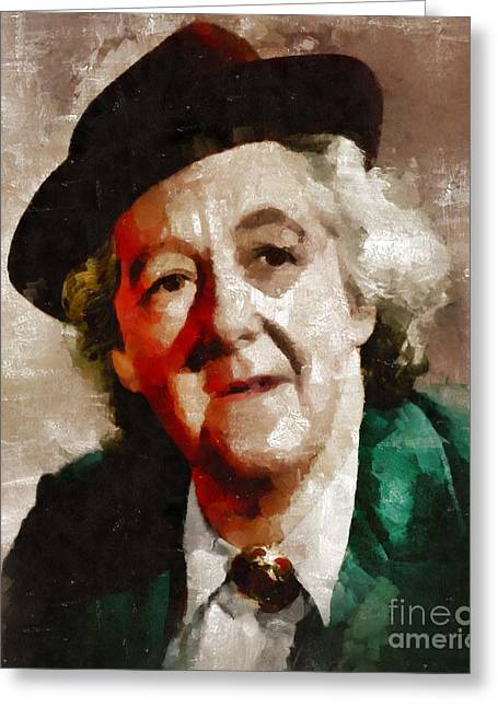 Margaret Rutherford, Actress Greeting Card