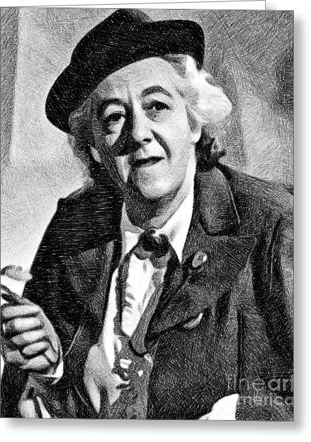Margaret Rutherford, Vintage Actress By Js Greeting Card