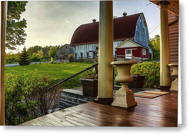 Greeting Card featuring the photograph Margaretville Mountain Inn by Paula Porterfield-Izzo