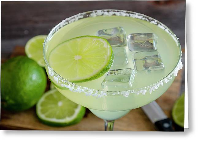 Greeting Card featuring the photograph Margarita Close Up by Teri Virbickis