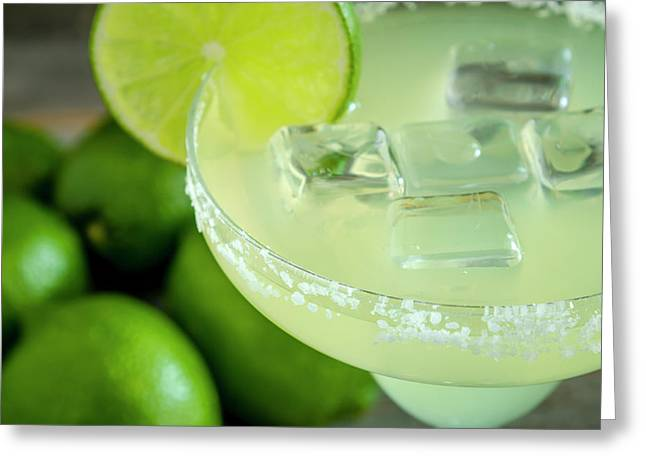 Greeting Card featuring the photograph Margaritas Anyone by Teri Virbickis