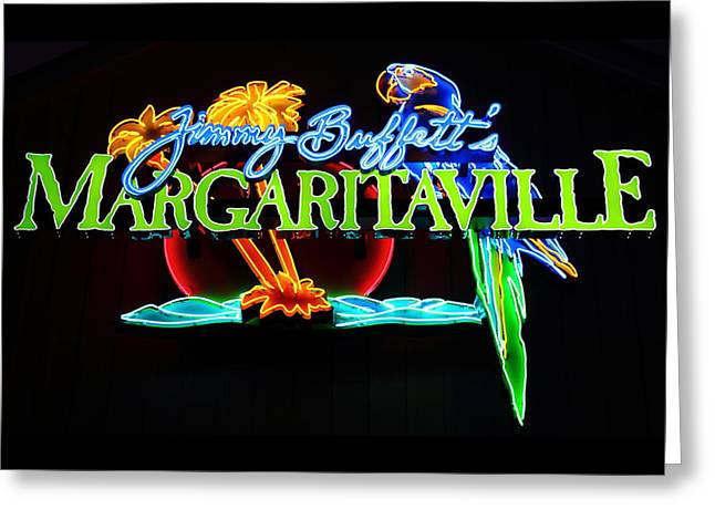 Margaritaville Neon Greeting Card