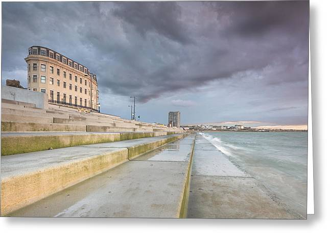 Margate And The Rokka Greeting Card by Ian Hufton