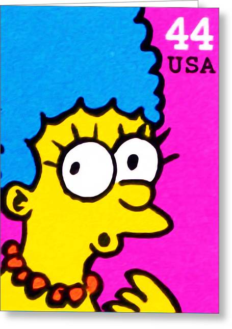Marge Simpson Greeting Card