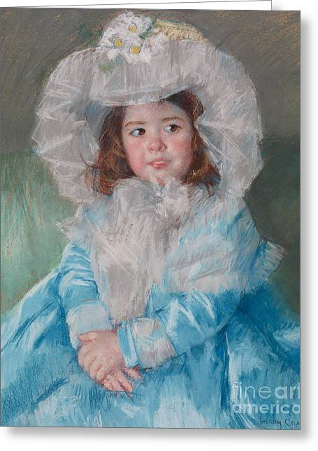 Margot Lefebre In Blue Greeting Card