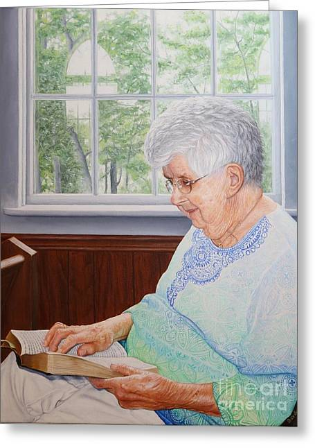 Margret Lawson Greeting Card by Mike Ivey