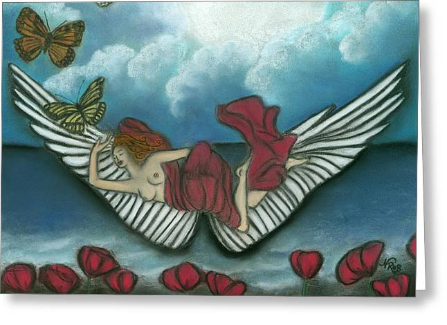 Mari Goddess Of Dreams Greeting Card by Natalie Roberts