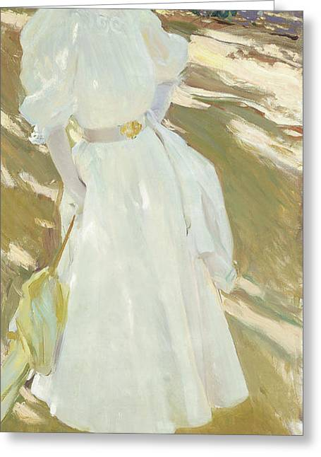 Maria At La Granja, 1907 Greeting Card by Joaquin Sorolla y Bastida