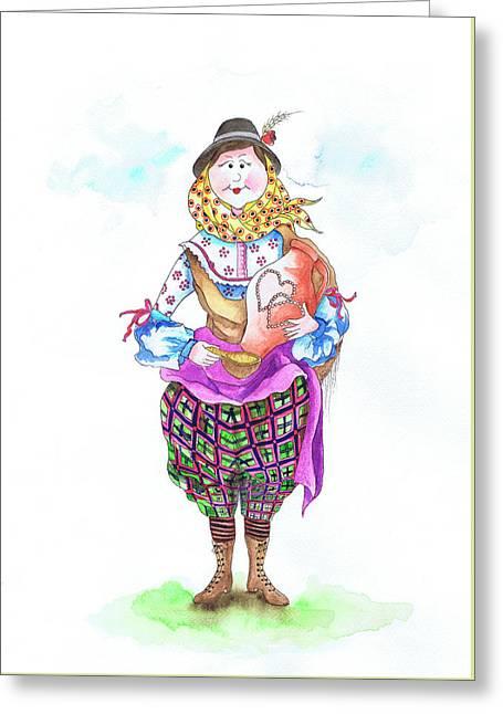 Maria Do Alentejo Greeting Card by Isabel Salvador