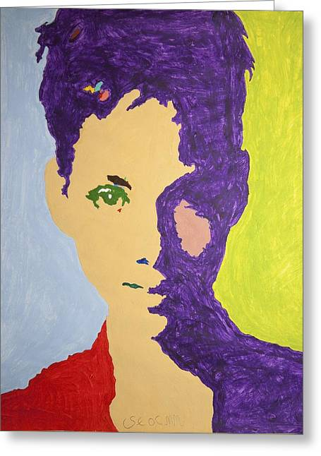 Maria Halle Berry Greeting Card by Stormm Bradshaw