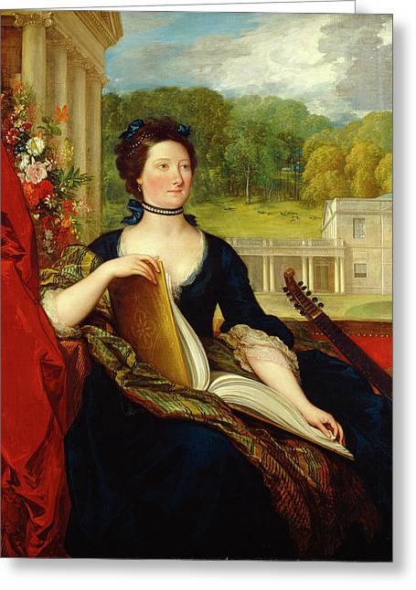 Maria Hamilton Beckford Greeting Card by Benjamin West