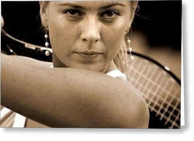 Maria Sharapova Tennis Racquet Opinion Sports 26295 300x360 Greeting Card