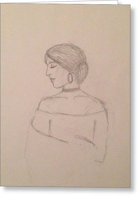 Maria Unfinished  Greeting Card by Amor Manzanares