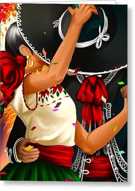 Mariachi Dance  Greeting Card