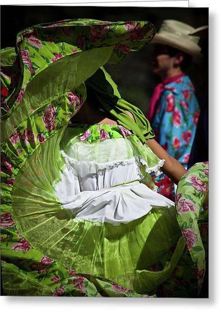 Mariachi Dancer 3 Greeting Card by Swift Family