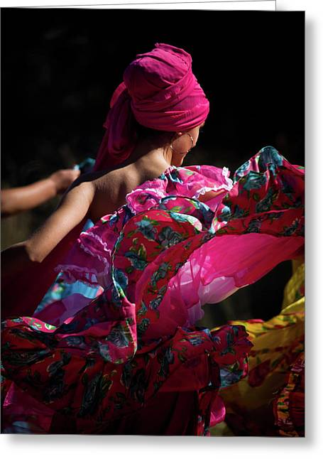 Mariachi Dancer 4 Greeting Card by Swift Family
