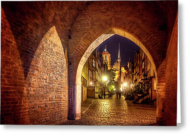 Mariacka By Night  Greeting Card by Carol Japp