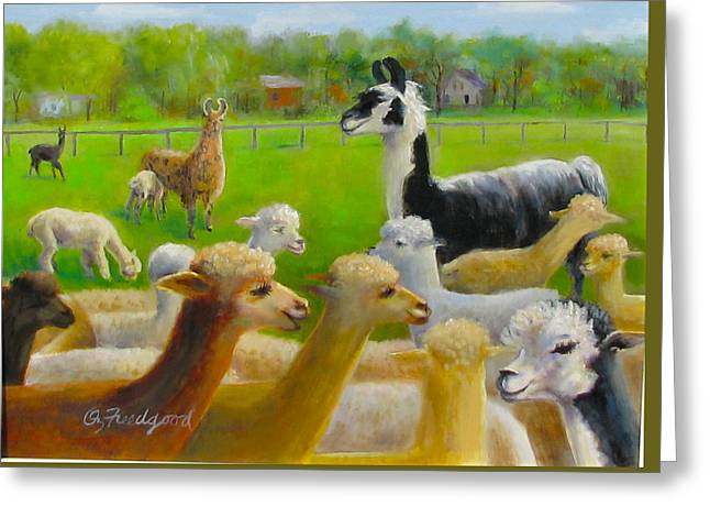 Mariah Guards The Herd Greeting Card
