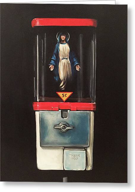 Marian Apparitions- 5 Cents Greeting Card