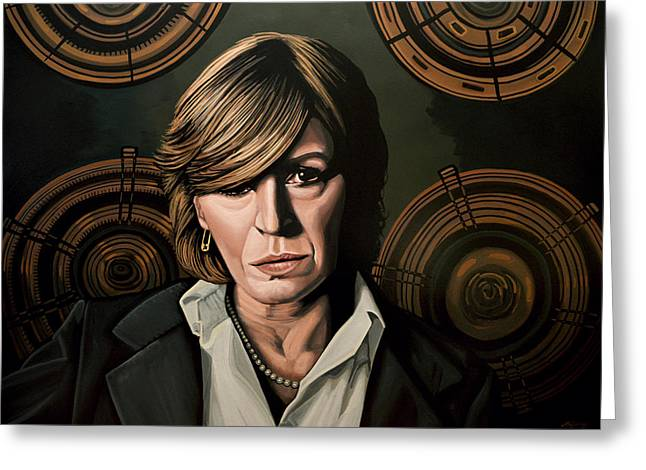 Marianne Faithfull Painting Greeting Card by Paul Meijering
