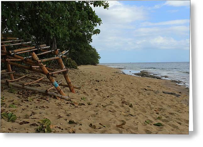 Maria's Beach Rincon Puerto Rico Greeting Card